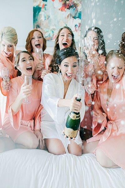 Bridemaids having fun
