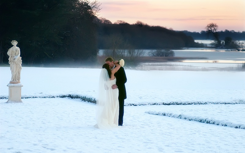 Lough Rynn snow wedding