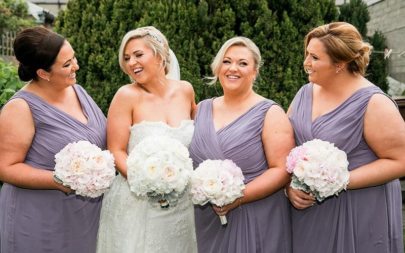 bride and bridesauds