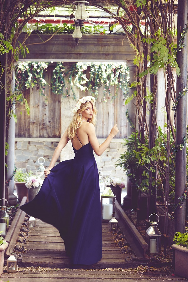 bridesmaid in navy