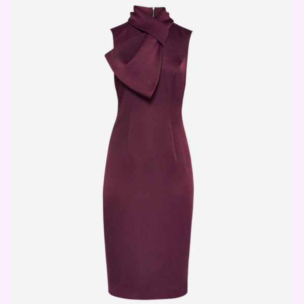 Dramatic Bow High Neck Dress, £189, Ted Baker