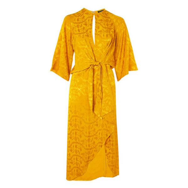Mustard Midi Dress, £59, Topshop