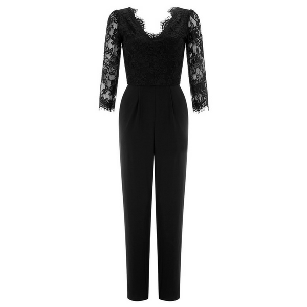 Kendall Black Lace Jumpsuit, £79, Monsoon