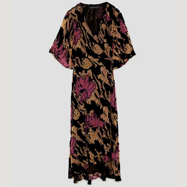 Devore Velvet Midi Dress, £69.99, Zara