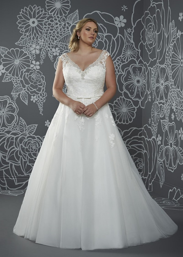 plus size ball gown
