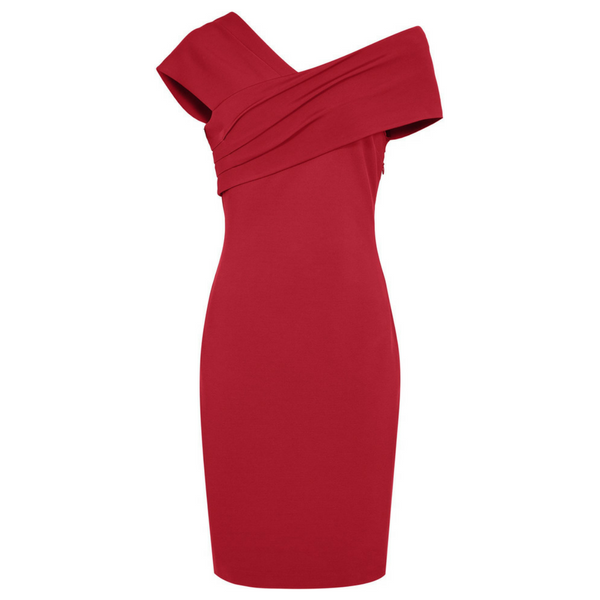 Cristiana One Shouldered Red Dress, £185, Reiss