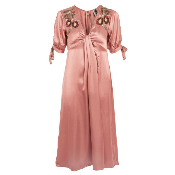 Satin Beaded Dress, £85, Topshop