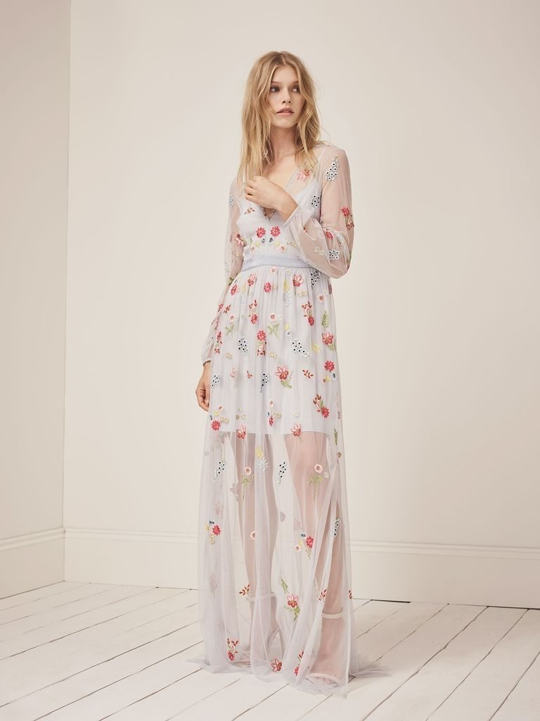 cb02ff5edcc Additionally, French Connection also offer bridesmaid dresses to compliment  their bridal, with candy tones, colourful embroidery, tulle galore and  beaded ...
