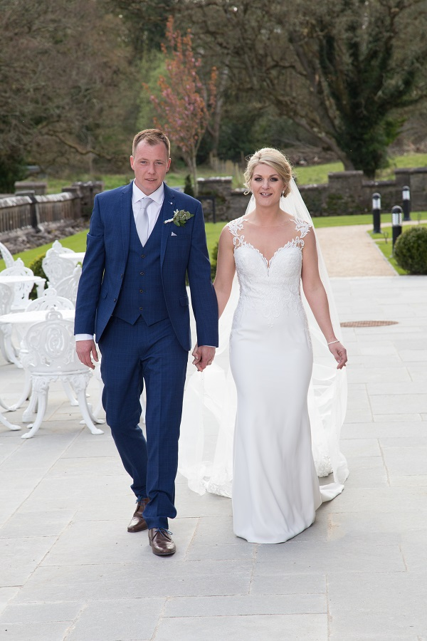 bride and groom at markree castle