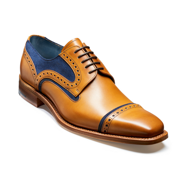 Haig Tan & Navy Suede Shoes, £225/€325, Barker