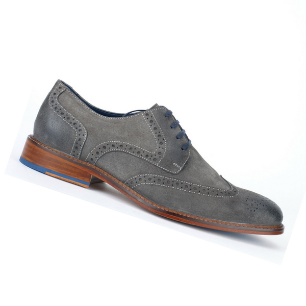 Grey Suede Brogues, £89/€100, Jones Bootmaker
