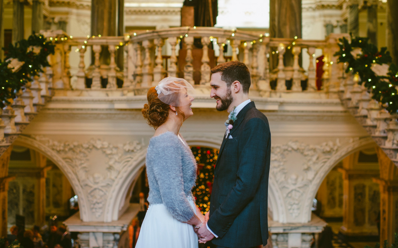 An Intimate & Alternative Christmas Wedding