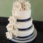 Celina's Cakes Navy 3 tier