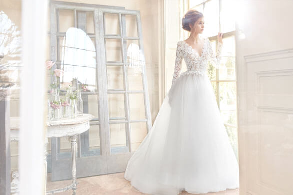 Snowdrop Bridal Couture Long Sleeve Gown