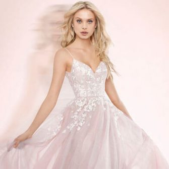 Snowdrop Bridal Couture Blush Dress