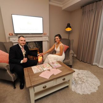The Glenside Hotel bride and groom