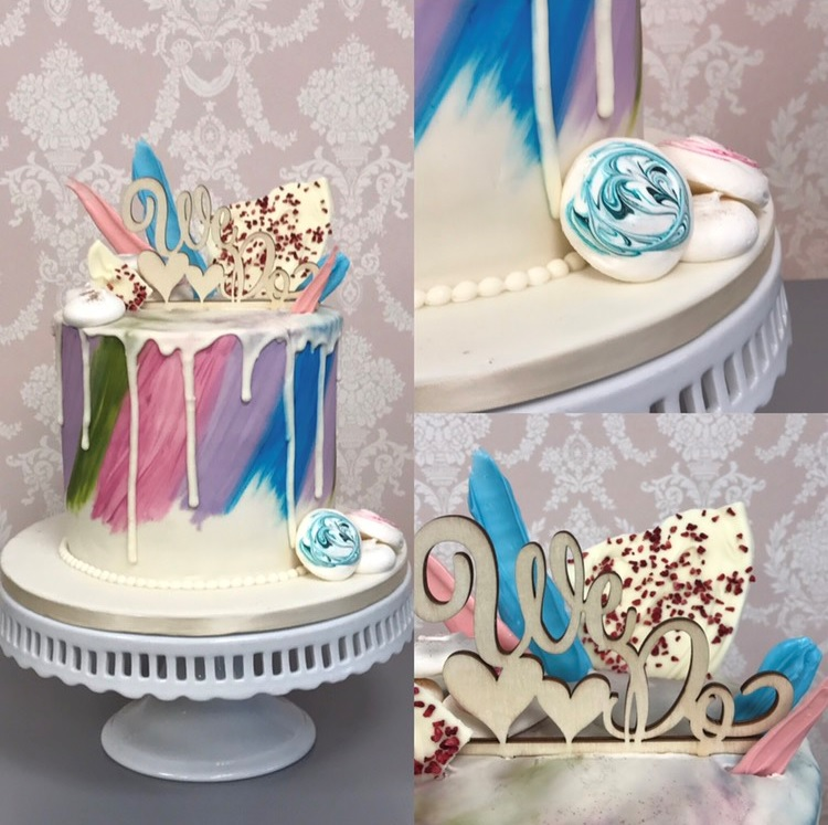 A Dramatic And Metallic Drip Cake Or Fun Colorful Design For An Alternative Wedding This Style Is Extremely Versatile
