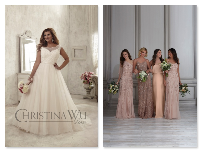 Divinity Bridal Curvy Bride and Bridesmaids