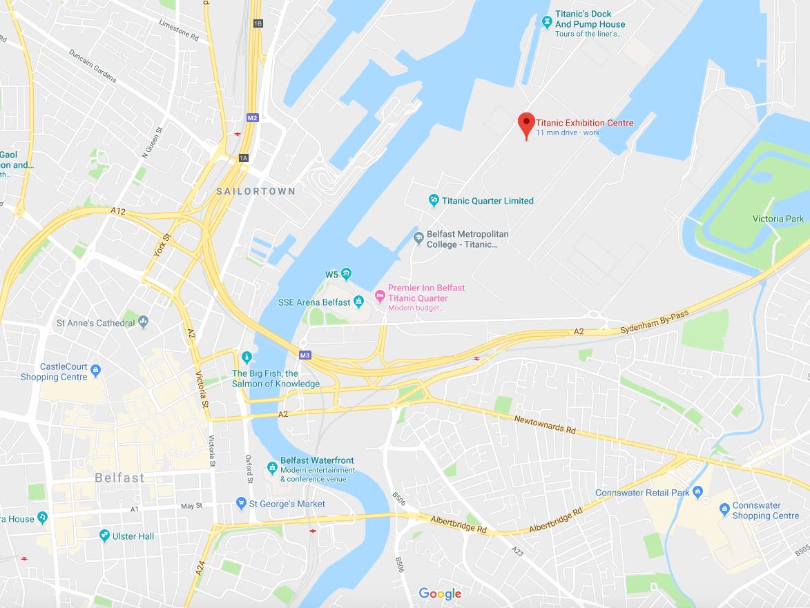 Belfast Titanic Exhibition Centre Map