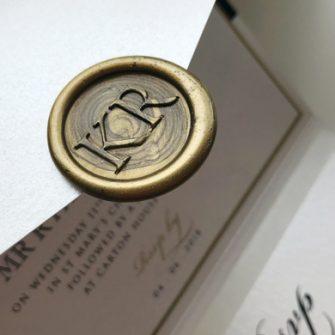 Darling Stationery Gold Monogram