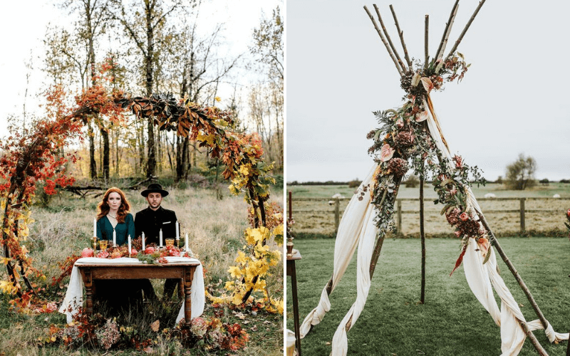 Fall-Wedding-Trend-Ceremony-Backdrop