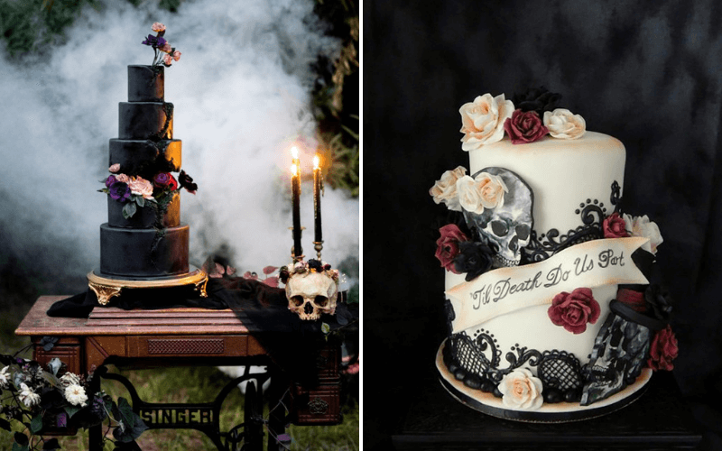 Halloween-Themed-Wedding-Cake-0