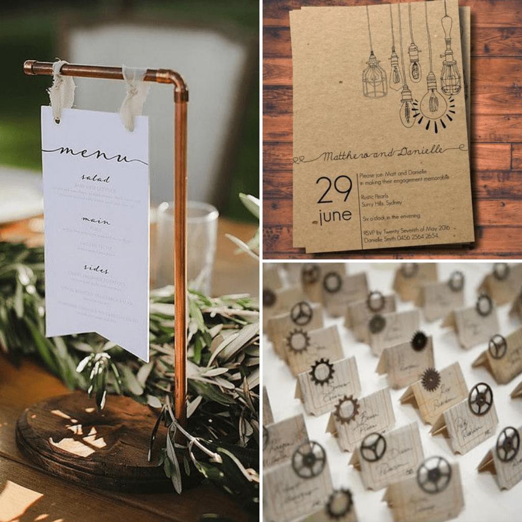 Industrial-Wedding-Theme-Stationery