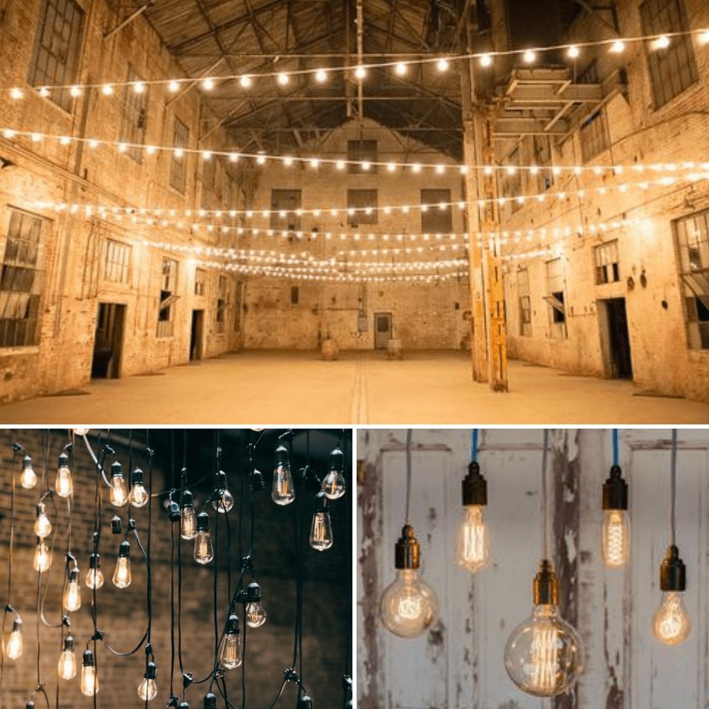 Industrial-Wedding-Theme-Lighting