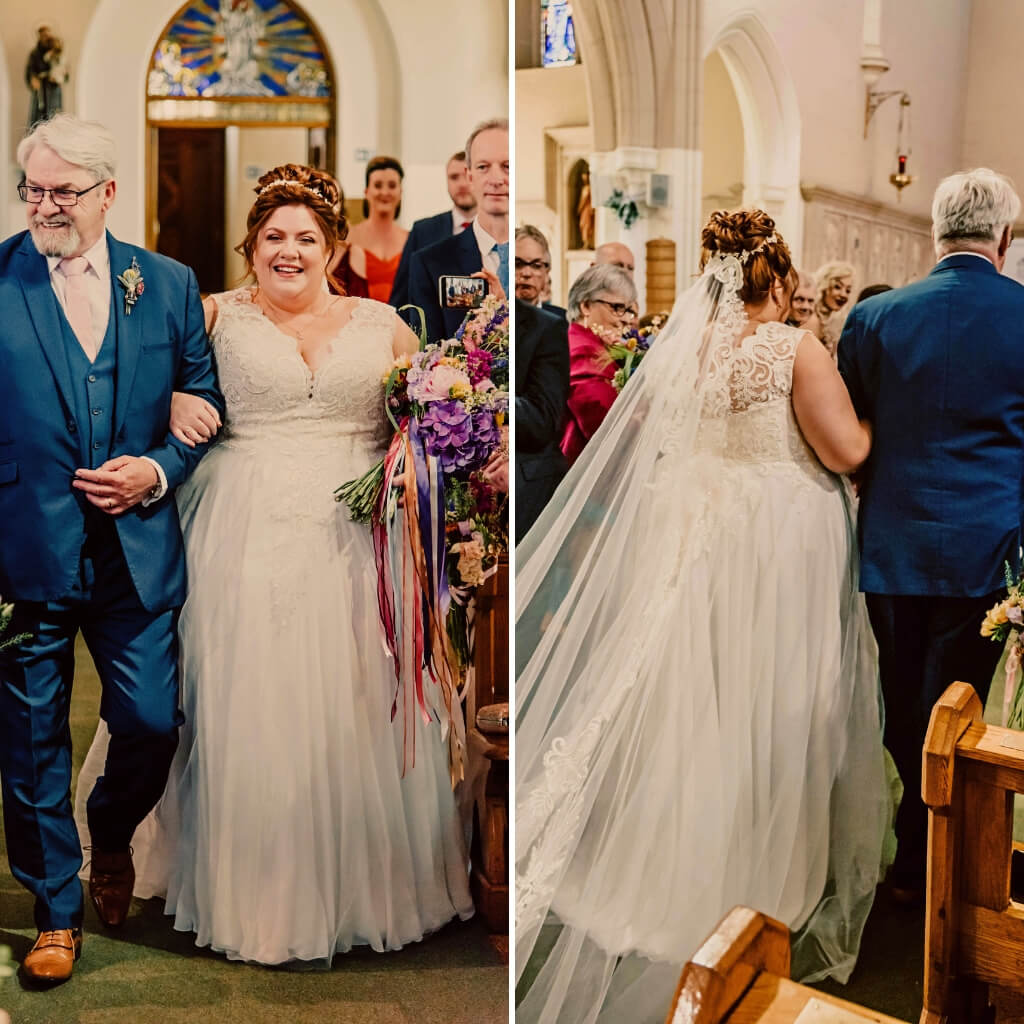 RLW-Rebecca-and-Colum-walking-down-aisle