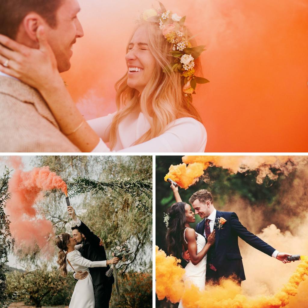 Orange-smoke-bombs-weddings